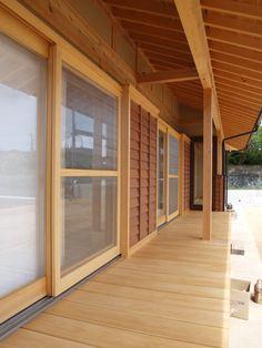 Here's a modern interpretation of an Engawa. It's more of a porch than an indoor/outdoor corridor.