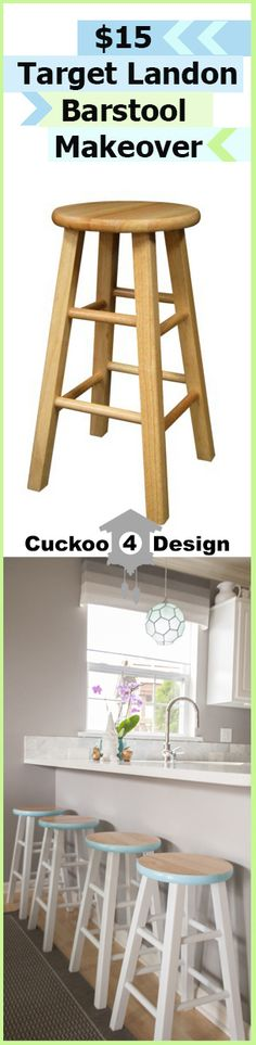 DIY $15 Target counter stool makeover #diycounterstools