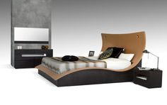 Modrest Hercules Modern Eastern King Size Bed w/ Lights VGWCC581AProduct :?ÿ16443Features :Brown Oak VeneerLeatherette2 Round Lights on HeadboardSome Assembly RequiredDimensions :Eastern King Size?ÿBed : W96