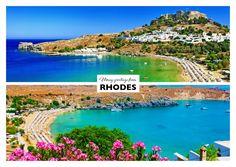 Sommerliche Grüsse von Rhodos | Urlaubsgrüße | Echte Postkarten online versenden…
