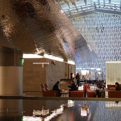 Hamad International Airport in Doha, Al Mourjan Business Lounge, Ceiling Cladding EXYD-M, Photo EXYD, 2014