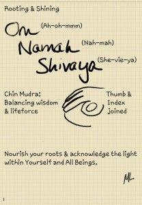 Root Shine : Chin mudra OM Namaha Shivaya