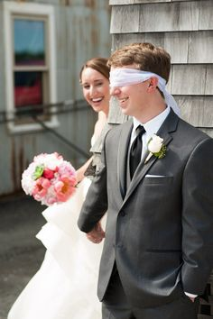 """See each other beforehand without really """"seeing"""" each other.  A Dreamy Viking Love Story: Lauren and Erikk's Wedding at the Duxbury Bay Maritime School » Fucci's Photos of Boston–Something Blue Blog 