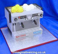 Coffee Machine Birthday Cake