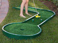 Mini golf is as close as the next room—or the backyard. This reconfigurable course has 25 possible designs that kids and grownups can play.