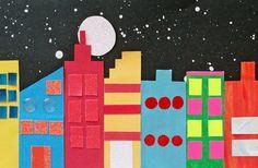 City Art - Demo for Arrays, not all buildings show an array Math Projects, School Art Projects, School Ideas, Math Art, Fun Math, Classroom Crafts, Preschool Crafts, Cityscape Art, Skyline Art