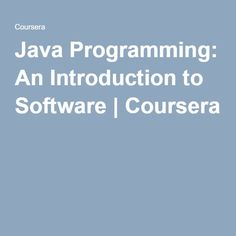 Learn Java Programming and Software Engineering Fundamentals from Duke University. Take your first step towards a career in software development with this introduction to Java—one of the most in-demand programming languages and the foundation of . Basic Programming, Programming Languages, Free College Courses Online, Software Development, First Step, Java, Engineering, Learning, College Degrees