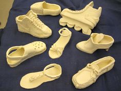 Ceramic Shoes (bisque) ~Smith Middle School, Miss Murphy 4th grade slab construction? Maybe Play with Clay or Art Enrichment?