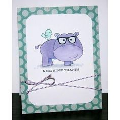 hipster potamus stamp - Google Search