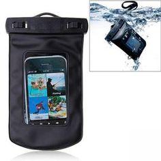 Wasserdichte Tasche für iPhone, iPod, Mobiltelefone , MP3, MP4 , etc. - Schwarz