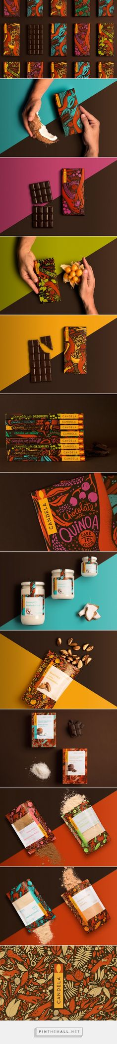 Candela Candela chocolate packaging design by Infinito Consultores – www. Cool Packaging, Food Packaging Design, Brand Packaging, Branding Design, Packaging Ideas, Coffee Packaging, Bottle Packaging, Web Design, Label Design