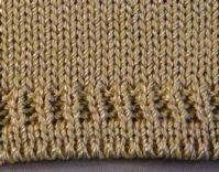 Fence Post Hem (Double Bed) Tutorial For Machine - Double Bed   Machine Knitting Tutorial