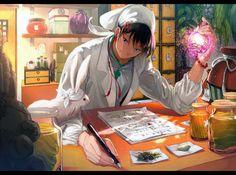 Hakutaku (Hoozuki no Reitetsu) Image - Zerochan Anime Image Board Fan Anime, Natsume Yuujinchou, Funny Gags, Touken Ranbu, Fujoshi, Anime Shows, Anime Chibi, Drawing Sketches, Game Art