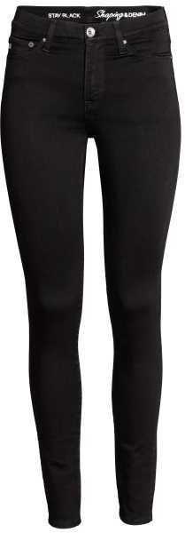 H&M - Slim-fit Treggings - Black - Ladies | Jeans - distressed ...