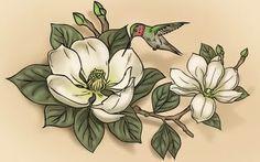 Magnolia tattoo idea