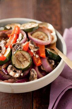 Check out what I found on the Paula Deen Network! Grilled Vegetable Salad http://www.pauladeen.com/recipes/recipe_view/grilled_vegetable_salad