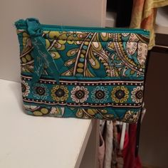 Vera Bradley bag Perfect to hold jewelry or for money or makeup! Vera Bradley Bags Cosmetic Bags & Cases