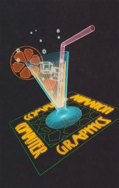 From Creative Computer Graphics (1984)Vector images on MPC systems (fibre optics). Moving Picture Company Ltd.