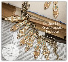 Margot Potter: Sparkling Crystal Leaves Necklace for Create Your Style with SWAROVSKI ELEMENTS