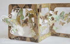 Sizzix Accordion Album Butterfly Card