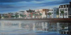 Battery Mist - painting of the famous Battery in Charleston, SC
