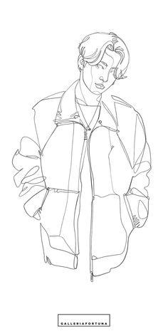 Outline Art, Outline Drawings, Kpop Drawings, Art Drawings Sketches, Bts Chibi, Anime Art Girl, Bts Wallpaper, Bts Tattoos, Creations