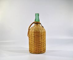 Bacardi Wicker Bottle/ Wicker bottle/Vintage Wicker Rum