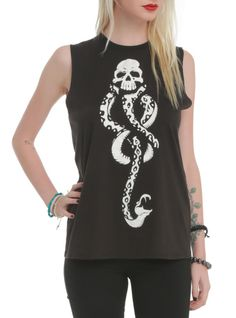 Sleeveless top from Harry Potter with the Dark Mark symbol.