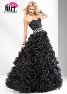 Flirt by Maggie Sottero Prom Dresses Style P4672 Černé Šaty Na Školní Ples 6ce1ff66c3
