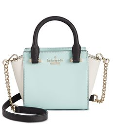 kate spade new york's baby Hayden bag proves less truly is more in signature crosshatched leather with bright gold-plated hardware and just enough room for evening essentials like a lipstick and compa Fashion Handbags, Purses And Handbags, Fashion Bags, Leather Handbags, Women's Handbags, Black Handbags, Leather Purses, Fashion Jewelry, Women's Fashion