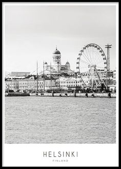 Poster with Helsinki. You can find many stylish prints with cities in our webshop and you can also buy nice cheap frames for your prints online. Black And White Photo Wall, Black And White Posters, Black And White Aesthetic, Places To Travel, Places To See, Helsinki Airport, Desenio Posters, Haring Art, Visit Helsinki