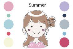 パーソナルカラー Summer(夏)タイプの特徴 - mikurumi cafe みくるみカフェ