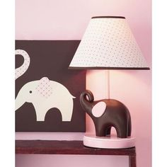 Pink Elephant Lamp Base and Shade by Carters Elephant Lamp, Elephant Nursery, Pink Elephant, Elephant Table, Childrens Lamps, Contemporary Table Lamps, Lamp Bases, All Modern, Home Improvement