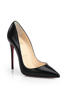 Christian Louboutin - So Kate Leather Point-Toe Pumps