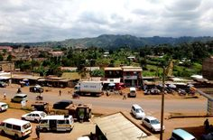 a view of Chogoria's main street from above