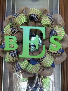 Custom Baby Shower Wreath by TheWhimsyWreath on Etsy