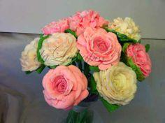 roses bouquet soap, ramo de rosas y hortensias de jabon