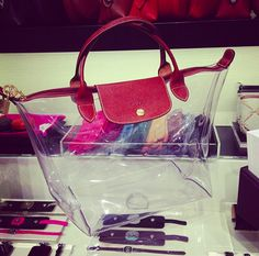 Longchamp transparent bag