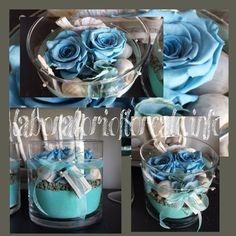 rose stabilizzate e conchiglie