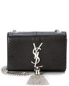 """Spotted this Saint Laurent """"Cassandre"""" Python Tassel Leather Shoulder Bag on Rue La La. Shop (quickly!)."""