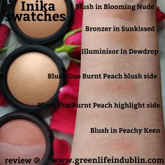 #Inikamakeup review is live on my blog. It was #InikaPeachyKeen blush that made me fall in love with the line. My thoughts on nearly all of the line #ontheblog at Green Life In Dublin (dot) com. To sum it up - Love! #GreenLifeInDublinblog #inikamakeupreview #inikareview #inikaswatches #inikamakeupswatches #inikablush #inikabronzer #inikablush #narsorgasmdupe #naturalnarsorgasmdupe
