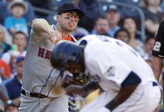 David Wright faking-out Cameron Maybin #baseball #mlb #mets
