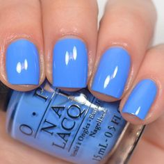 30 Popular Summer Nails Polish Color Ideas 2019 - With summer around the bend, the time has come to begin pondering the best nail polishes for the season. While some nail polish colors can be worn all. Spring Nails, Summer Nails, Spring Nail Colors, Opi Nail Colors, Opi Nails, Nail Polishes, Nagel Gel, Blue Nails, Opi Blue Nail Polish