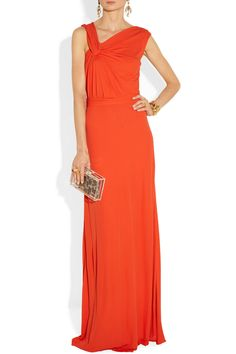 Issa                                  Draped stretch-jersey gown