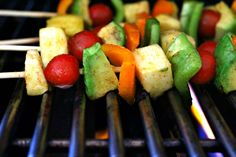 Meatless Monday: Grilled Honey Lime Fiesta Kabobs | The Fit Foodie Mama