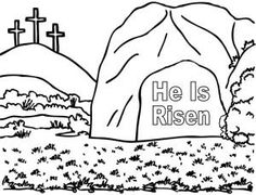 empty tomb coloring pages | coloring pages tell people about Jesus | can tell my ...