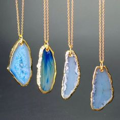 Irregular Sliced Stone Necklace