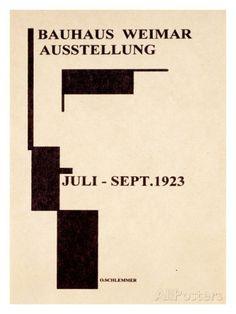 Affiche de galerie de Bauhaus allemand1923 Impression giclée - bij AllPosters.be