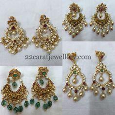 Jewellery Designs: Nakshi Work Pachi Chandbalis