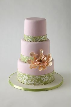 wedding cake by Lulu Scarsdale at Lulu Custom Cake Boutique